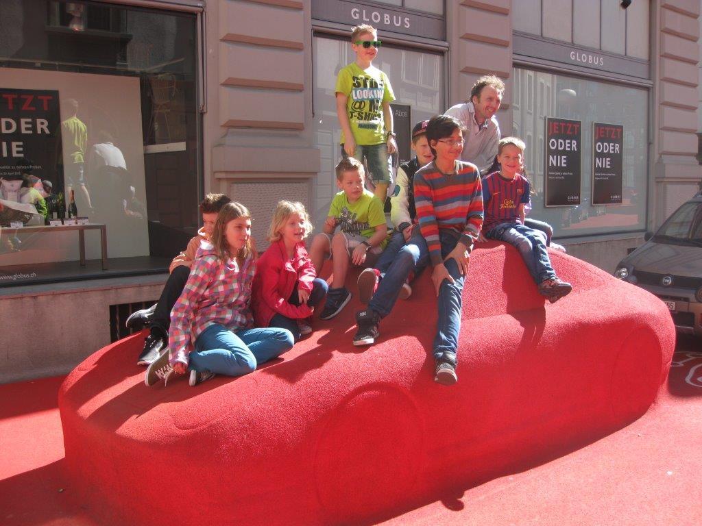 Roter Platz Porsche Gruppenfoto